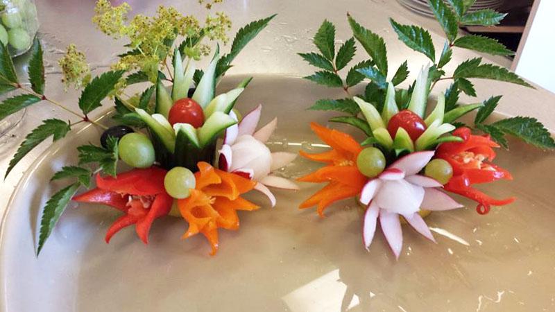 Bröllop med festliga grönsaksdekorationer  b25775c73929b