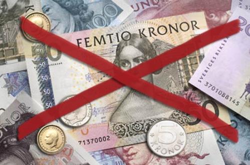 Kontanter montage bilder Riksbanken