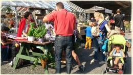Massor av trevliga människor hade hittat till årets Skördefest på Lärjeåns Kafé & Trädgårdar. Foto: I Berner